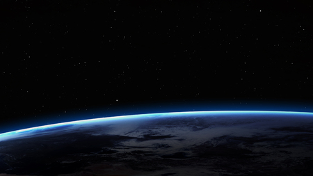 over the moon: High resolution image of Earth in space.