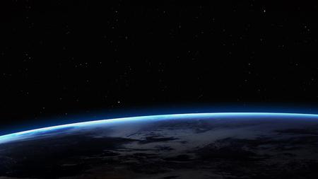 Imagen de alta resolución de la Tierra en el espacio. Foto de archivo