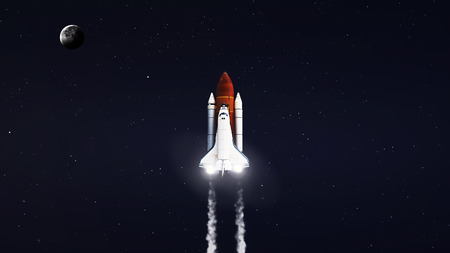 5K resolution image of Space shuttle taking off on mission.  Imagens