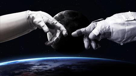 schöpfung: 5K Auflösung Bild Erde im Raum.