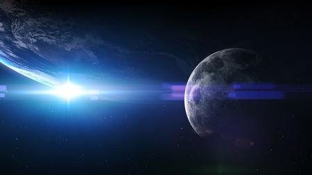 5K beeldresolutie van de aarde in de ruimte.