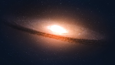 5K resolution Incredibly beautiful spiral galaxy somewhere in deep space.