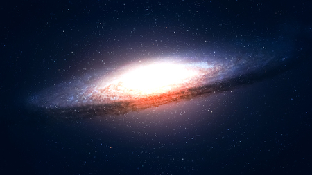 andromeda: 5K resolution Incredibly beautiful spiral galaxy somewhere in deep space.