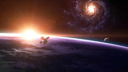erde: Raum Satellit die Erde umkreist. Elemente dieses Bildes von der NASA eingerichtet