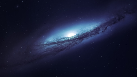 Awesome spiral galaxy many light years far from the Earth. Elements furnished by NASA