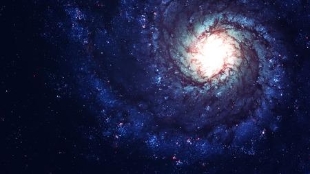 Impresionante galaxia espiral muchos años luz lejos de la Tierra. Elementos proporcionada por la NASA