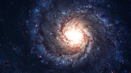素晴らしい渦巻銀河、地球から遠く離れた多くの光年。NASA から提供された要素 写真素材