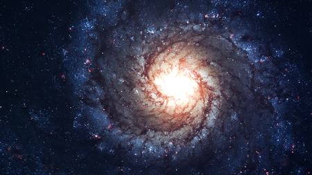 spirals: Awesome spiral galaxy many light years far from the Earth. Elements furnished by NASA
