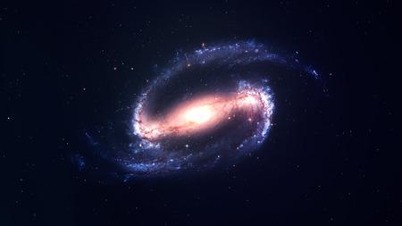 Awesome spiraalstelsel vele lichtjaren ver van de Aarde. Elementen geleverd door NASA