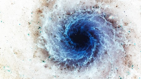 cosmos: Awesome spiral galaxy many light years far from the Earth. Elements furnished by NASA