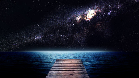 nasa: Sea at night. Elements of this image furnished by NASA
