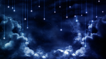 평화로운 배경, 푸른 밤 하늘.
