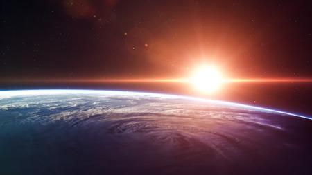 sun and moon: High quality Earth image.