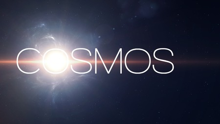 cosmos: Sunflafe beautiful background in deep space.