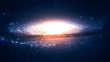5 K 解像度信じられないほど美しい渦巻銀河宇宙のどこかで。