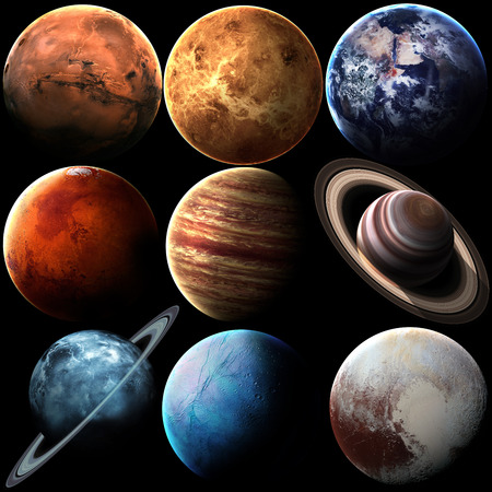 systems: Hight quality solar system planets. Stock Photo