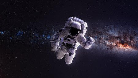 Astronaut in outer space.  Stockfoto