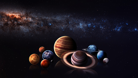 Hight kwaliteit zonnestelsel planeten.