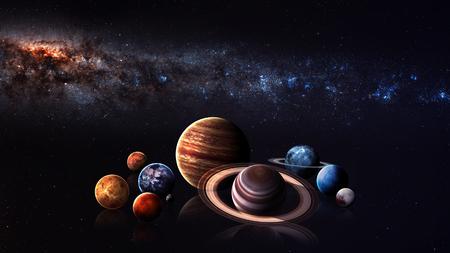Système solaire planètes de qualité Hight. Banque d'images - 48279931