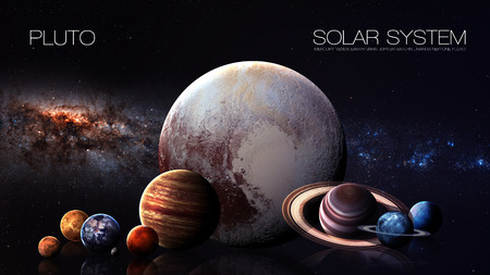 pluto: Pluto - 5K resolution Infographic presents one of the solar system planet.