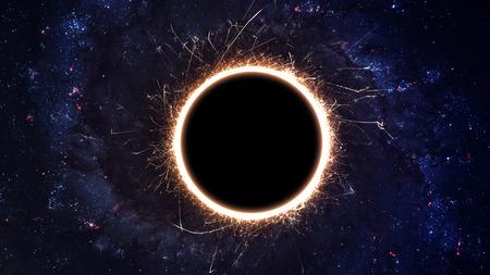 宇宙のブラック ホール。 写真素材