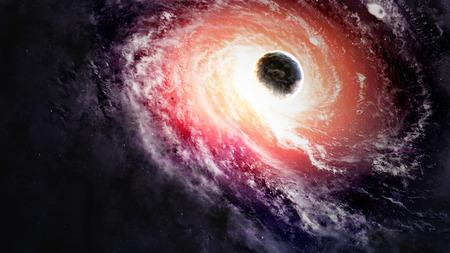 Black hole in space.   版權商用圖片