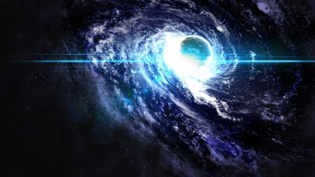 Black hole in space.   Zdjęcie Seryjne