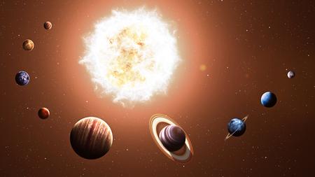 sistemas: Alta calidad de los planetas del sistema solar. Foto de archivo