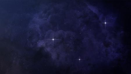 illustrated globe: Beautiful space background.