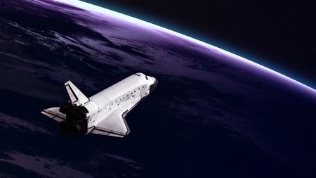 El transbordador espacial despegando en una misión. Foto de archivo - 48681886