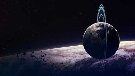 kepler: Beautiful fantastic planets in space.