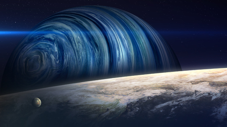 deep space: Beautiful fantastic planets in space.