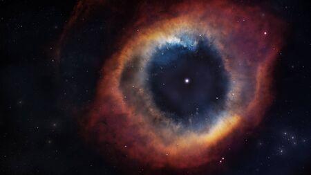 nebula: The Helix Nebula in deep space.