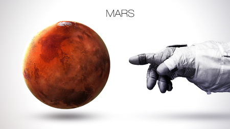 Mars - High resolution best quality solar system planet. All the planets available.  Stock Photo