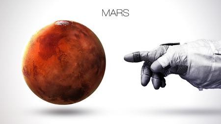 Marte - Alta resolución mejor calidad planeta del sistema solar. Todos los planetas disponibles. Foto de archivo - 48958461