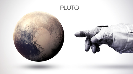 pluto: Pluto - High resolution best quality solar system planet. All the planets available. Stock Photo
