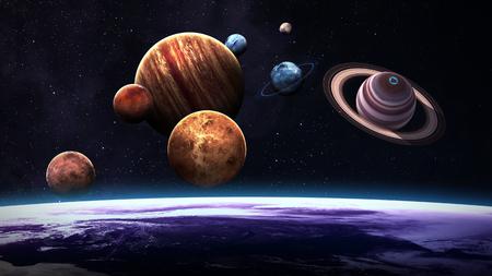 astronomie: Hochwertige Sonnensystems Planeten.