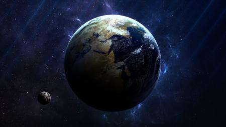 지구 - 높은 해상도 최고 품질의 태양계 행성입니다. 모든 행성 가능합니다. 이 이미지 요소는 NASA가 제공.