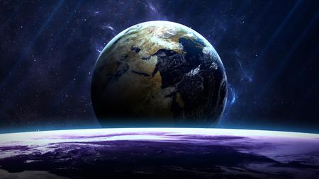 宇宙の星雲の惑星。NASA から提供されたこのイメージの要素