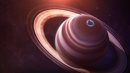Saturn - High resolution best quality solar system planet. All the planets available. This image elements furnished by NASA.