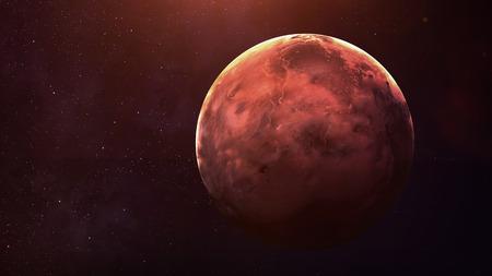 水星 - 高解像度最高品質太陽系惑星。惑星すべて利用できます。このイメージ エレメントは NASA から提供されました。 写真素材 - 49046801