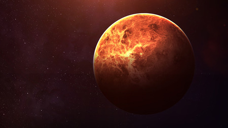 Venus - High resolution best quality solar system planet. All the planets available. This image elements furnished by NASA.