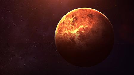 Venus - Hohe Auflösung beste Qualität Sonnensystem Planeten. Alle Planeten zur Verfügung. Diese Bildelemente von der NASA eingerichtet. Standard-Bild - 49046802