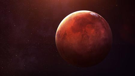 Mars - Vysoké rozlišení nejvyšší kvality sluneční soustava planeta. Všechny dostupné planety. Tyto obrazové prvky zařízen NASA. Reklamní fotografie