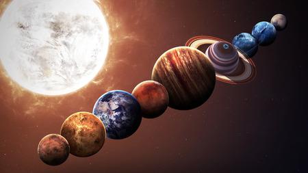 sistemas: Calidad de Hight planetas del sistema solar. Los elementos de esta imagen proporcionada por la NASA