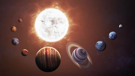 sistema: del sistema y objetos de espacio solares. Los elementos de esta imagen proporcionada por la NASA Foto de archivo