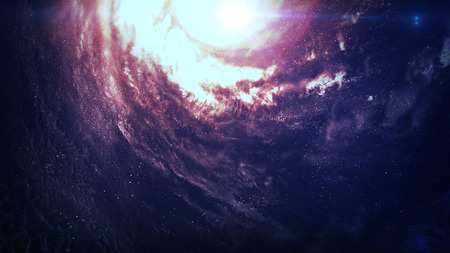 somewhere: Incredibly beautiful spiral galaxy somewhere in deep space. Elements of this image furnished by NASA.