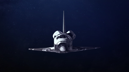 Space shuttle taking off on a mission. Elements of this image furnished by NASA Stock Photo