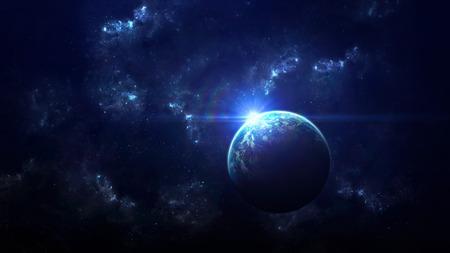 scena dell'universo con pianeti, stelle e galassie nello spazio esterno che mostrano la bellezza di esplorazione dello spazio. Elementi fornita dalla NASA