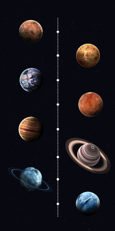 pluto: Solar system planets, pluto and sun in highest quality and resolution. Elements of this image furnished by NASA Stock Photo